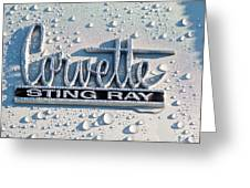 1966 Chevrolet Corvette Sting Ray Emblem -0052c Greeting Card