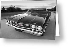 Chevrolet El Camino In Black And White Greeting Card