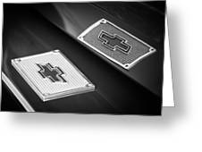 Chevrolet Emblem - 131bw Greeting Card