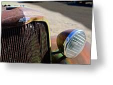 Chevrolet Grille Emblem - Head Light Greeting Card