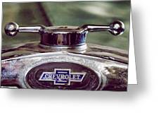 Chevrolet Hood Ornament Greeting Card