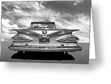 Chevrolet Impala 1959 In Black And White Greeting Card
