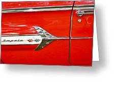Chevrolet Impala Classic In Red Greeting Card