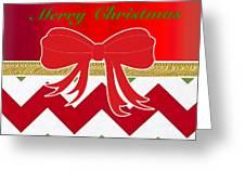 Chevron Christmas Greeting Card