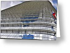 Chevron Corporation Houston Tx Greeting Card by Christine Till