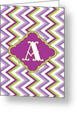 Chevron Monogram Greeting Card