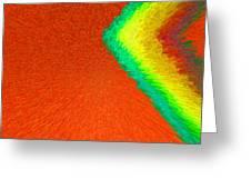Chevron Rainbow Orange C2014 Greeting Card