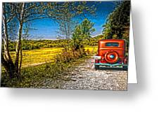 Chevy 34 Sweet Country Road Greeting Card