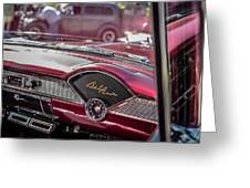 Chevy Bel Air Dash Greeting Card
