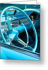 Chevy Bel Air Interior  Greeting Card