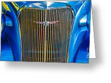 Chevy Blue Greeting Card