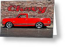Chevy C10 Pickup Greeting Card