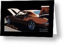 Chevy Camaro 67 Greeting Card