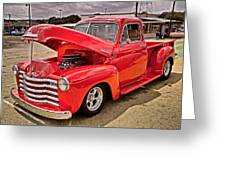 Chevy Hot Red Greeting Card