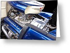Chevy Hot Rod Engine Greeting Card