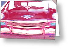 Chevy - Red Greeting Card