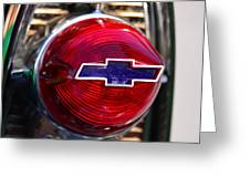 Chevy Red White And Blue Greeting Card
