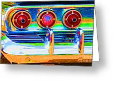 Chevy Tailights 1958 Greeting Card