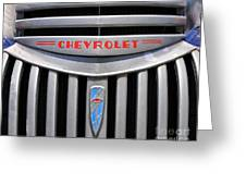 Chevy Truck Grill Greeting Card