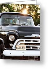 Chevy Truck Greeting Card by John Rizzuto