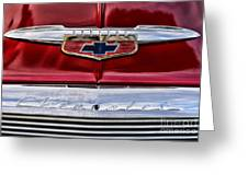 Chevy Truck Logo Vintage Greeting Card