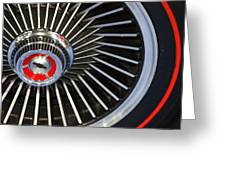 Chevy Wheel Greeting Card