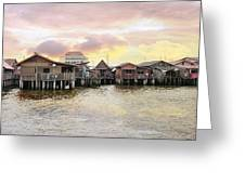 Chew Jetty Heritage Site In Penang Greeting Card