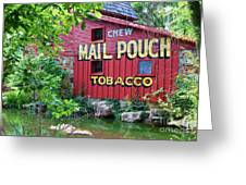 Chew Mail Pouch Tobacco  Greeting Card