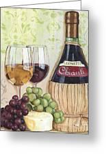 Chianti And Friends Greeting Card by Debbie DeWitt