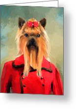 Chic Yorkshire Terrier Greeting Card