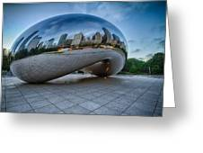 Chicago - Cloudgate Reflections Greeting Card