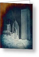 Chicago 4 Tall Shoulders Textured Greeting Card