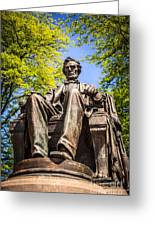 Chicago Abraham Lincoln Sitting Statue Greeting Card