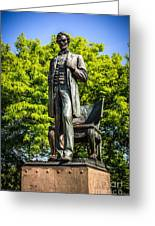 Chicago Abraham Lincoln The Man Standing Statue  Greeting Card