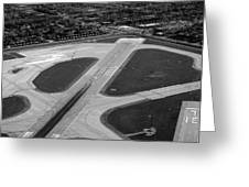 Chicago Airplanes 04 Black And White Greeting Card
