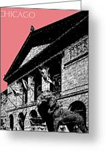 Chicago Art Institute Of Chicago - Light Red Greeting Card
