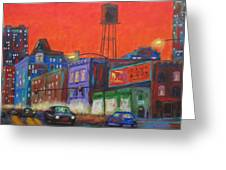 Chicago Avenue Looking West Greeting Card