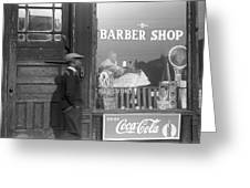 Chicago Barber Shop, 1941 Greeting Card