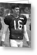 Chicago Bears P Patrick O'donnell Training Camp 2014 Bw Greeting Card