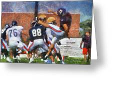 Chicago Bears P Patrick O'donnell Training Camp 2014 Photo Art 02 Greeting Card