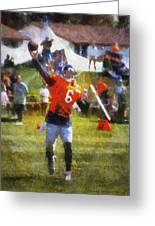 Chicago Bears Qb Jay Cutler Training Camp 2014 04 Photo Art 02 Greeting Card