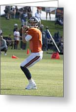 Chicago Bears Qb Jimmy Clausen Training Camp 2014 03 Greeting Card