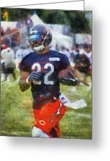 Chicago Bears Rb Matt Forte Training Camp 2014 Photo Art 02 Greeting Card