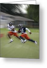 Chicago Bears Rb Michael Ford Moving The Ball Training Camp 2014 Greeting Card