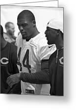 Chicago Bears S Adrian Wilson Training Camp 2014 Bw Greeting Card