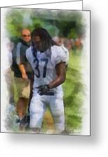 Chicago Bears S M J Jennings Training Camp 2014 Photo Art 01 Greeting Card