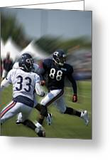 Chicago Bears Te Dante Rosario Training Camp 2014 03 Greeting Card