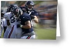 Chicago Bears Te Jeron Mastrud Moving The Ball Training Camp 2014 Greeting Card