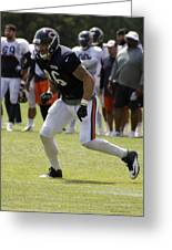 Chicago Bears Te Zach Miller Training Camp 2014 02 Greeting Card