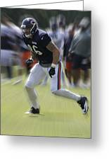 Chicago Bears Te Zach Miller Training Camp 2014 03 Greeting Card